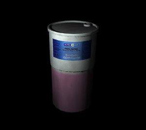 chemical tub 3d model