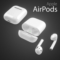 apple airpods 3d obj