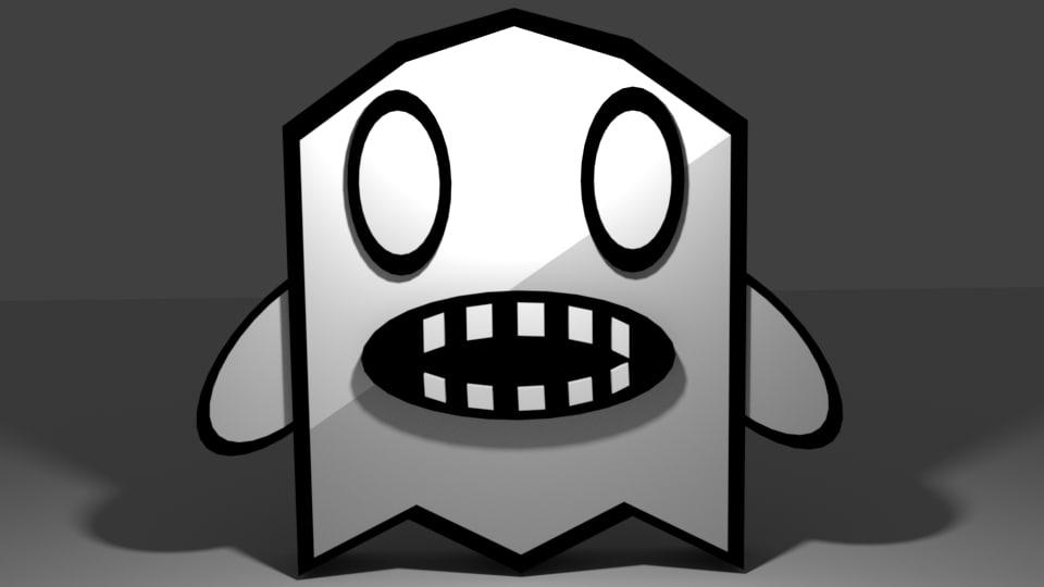 ghost cartoon 3d 3ds