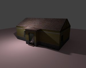old house 3d 3ds