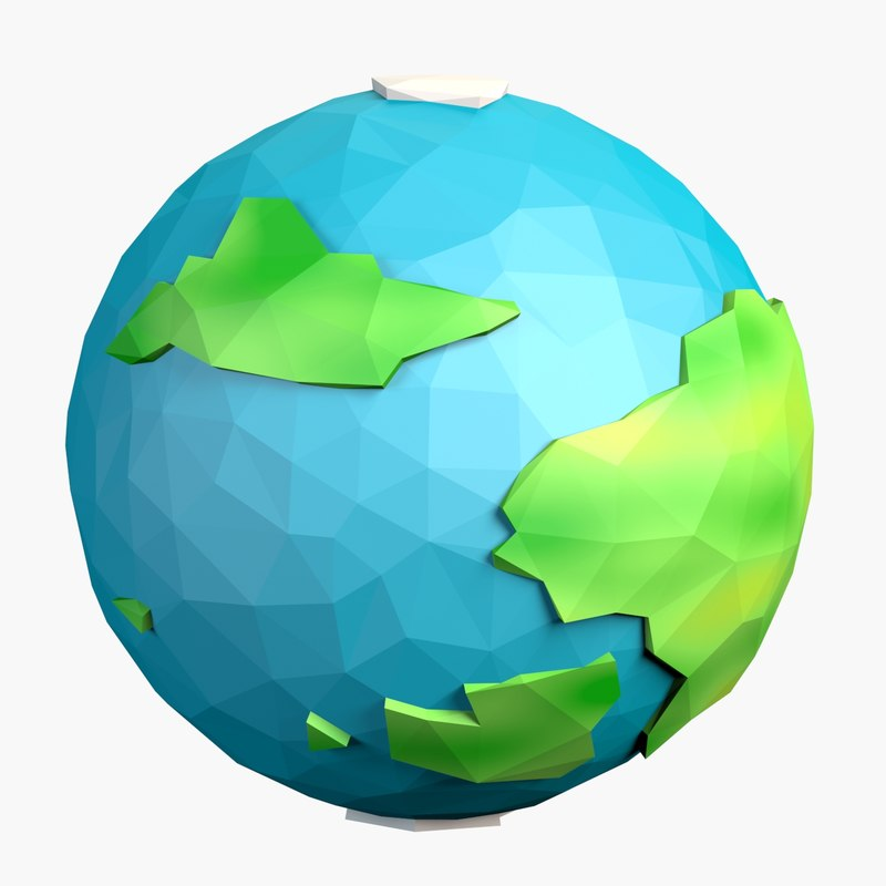fantasy cartoon planet 3d model