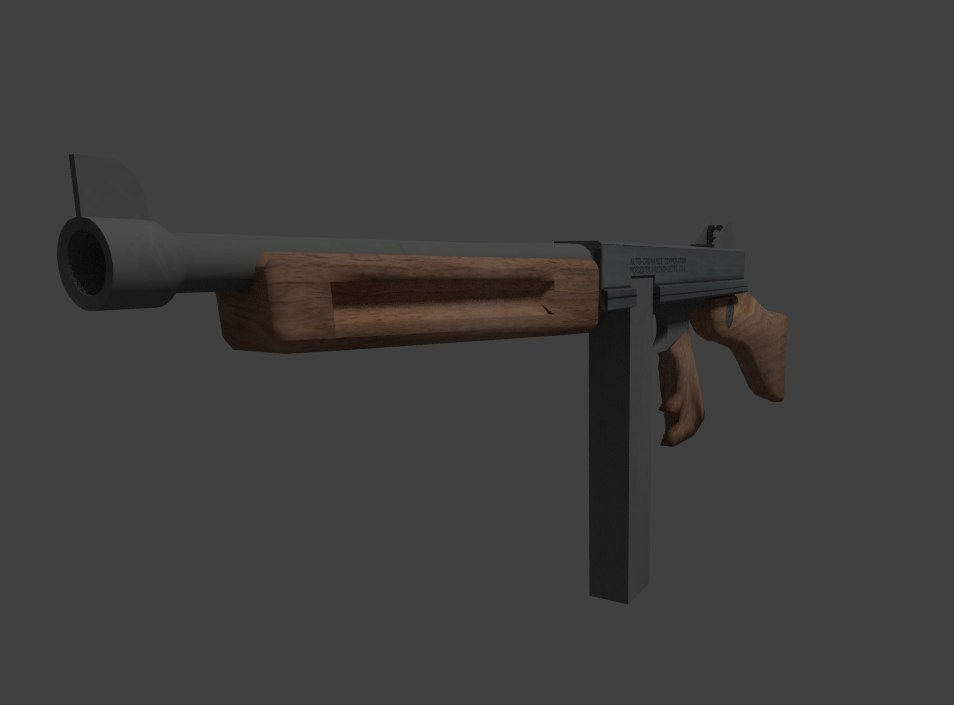 thompson machinegun 3d model