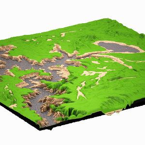 3d mountain highpoly model