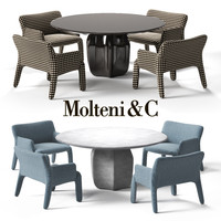 molteni c glove-up armchair 3d max