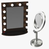 makeup mirrors 3d model