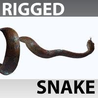rigged snake 3d max