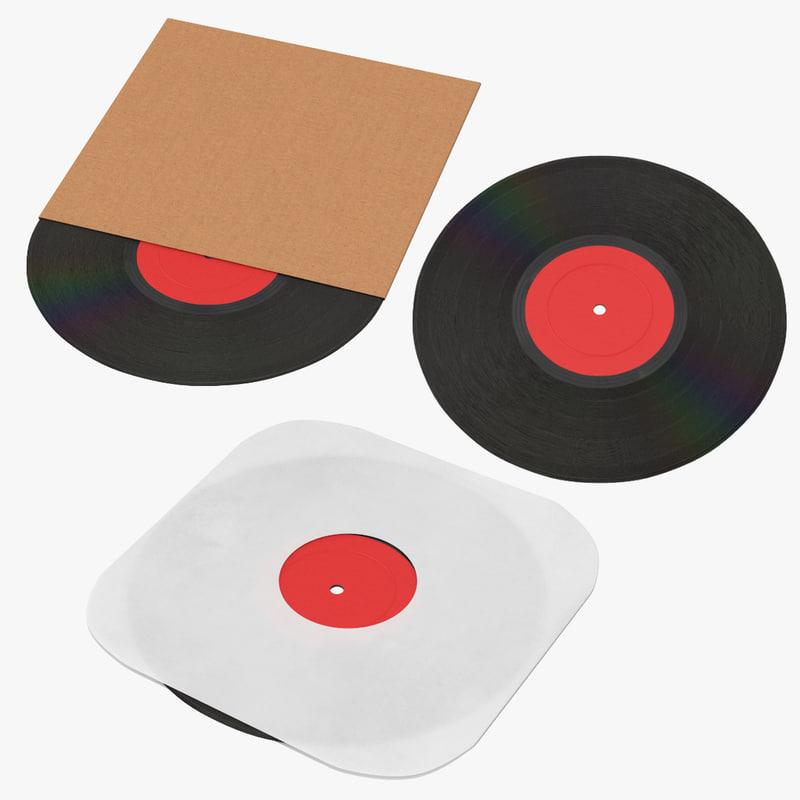vinyl 01 3d max