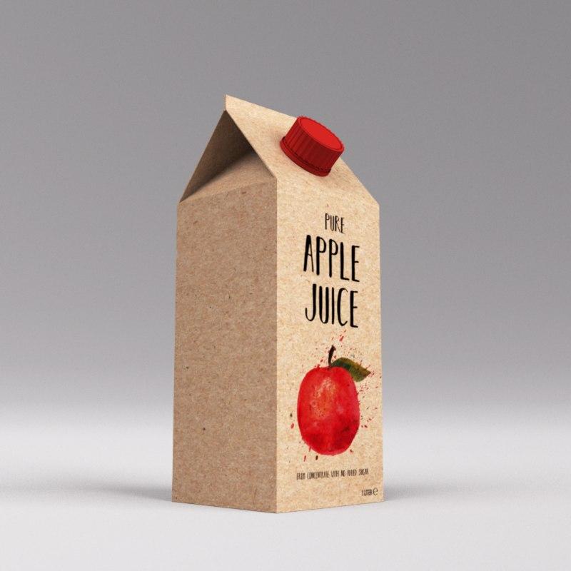 apple juice carton 3ds