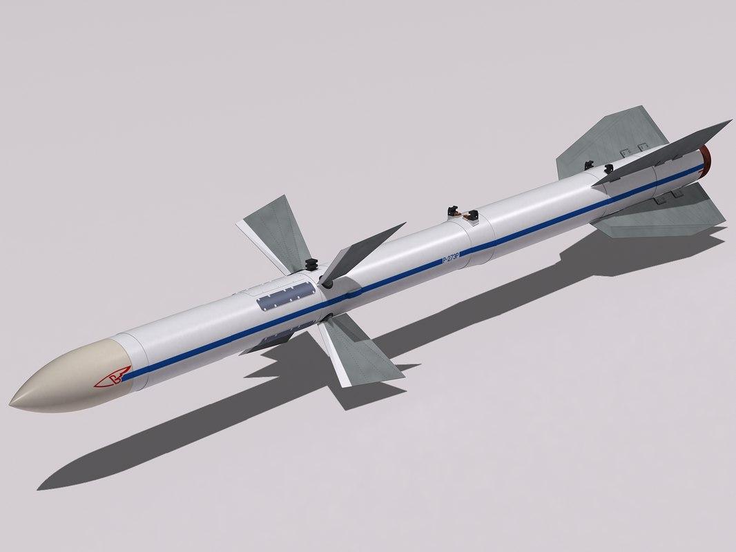 r-27 missile 3d model