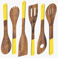 max dark wood utensil set