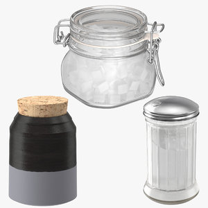 obj 3 sugar canisters