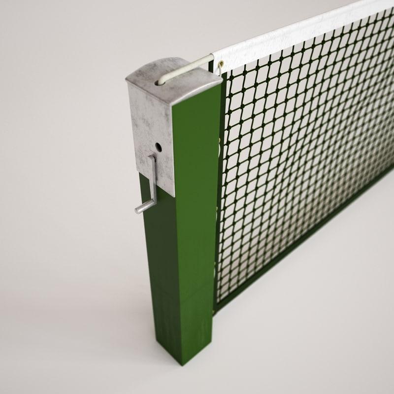 tennis net 3d max