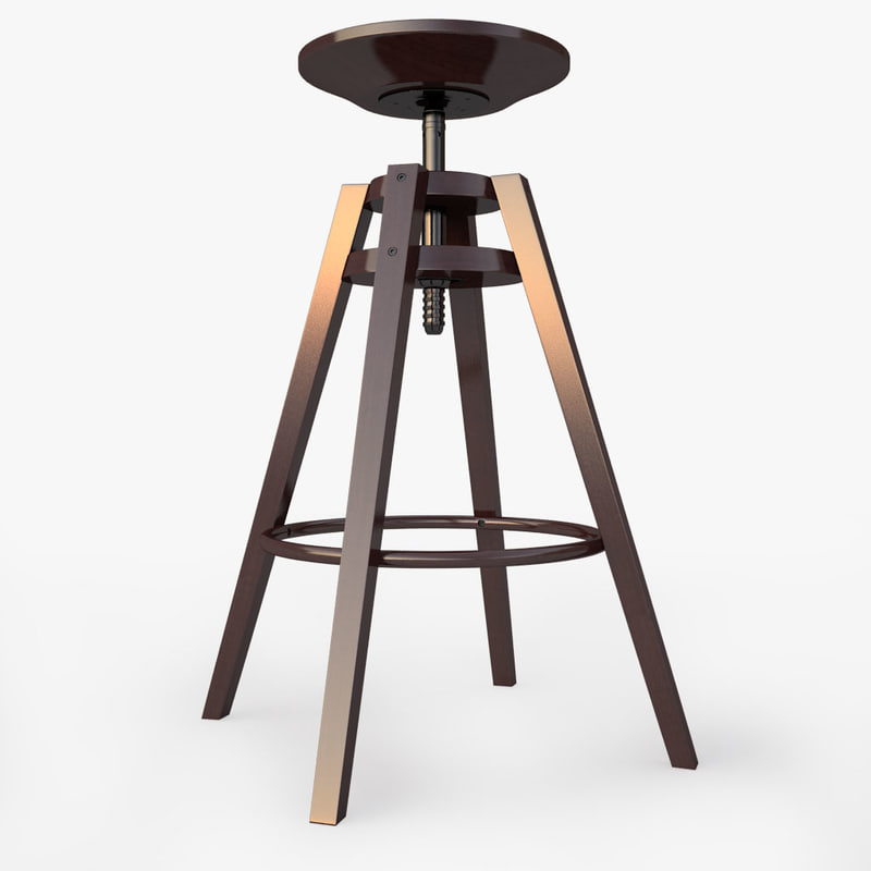 bar stool ikea dalfred 3d model