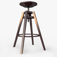 bar stool ikea dalfred 3d model