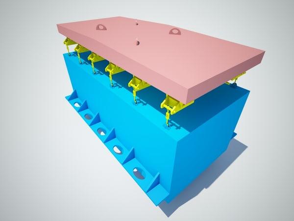 3d device vertical loading unloading model