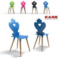 3d model chair kare