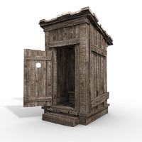 medieval outhouse obj