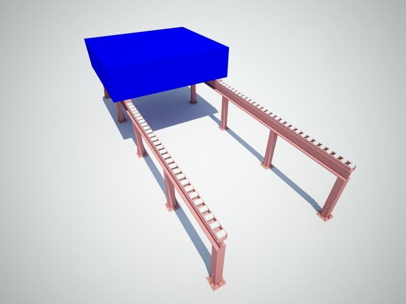 3d model roller track