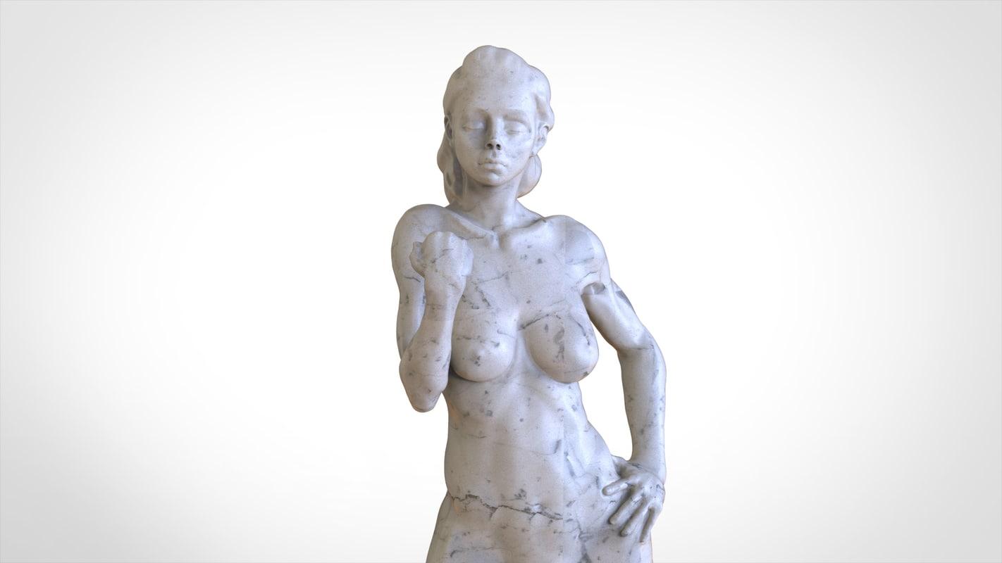 statue woman 3d obj