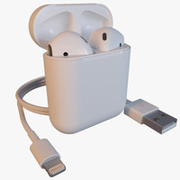 3d model airpods case usb