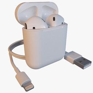 3d model airpods case usb