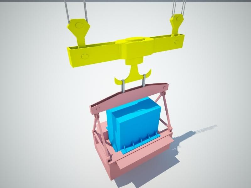 3d model cme transport device cranes