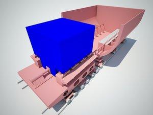 3d device loading unloading trucks model