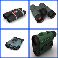 binocular scope 3d model