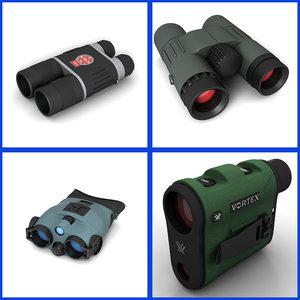 binocular scope 3d model