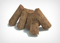 3d model of firewood wood