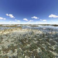 3d model water landscape