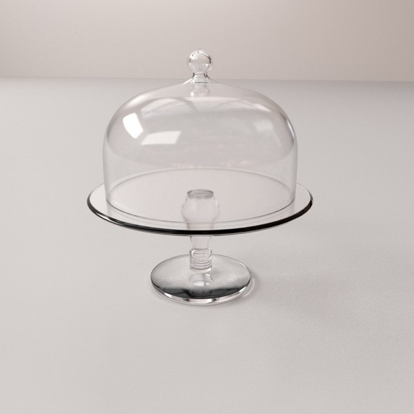 3d cake stand dome model