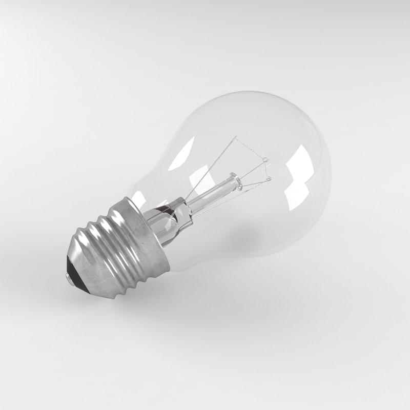 3d realistic light bulb
