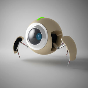 3d model of bug robot