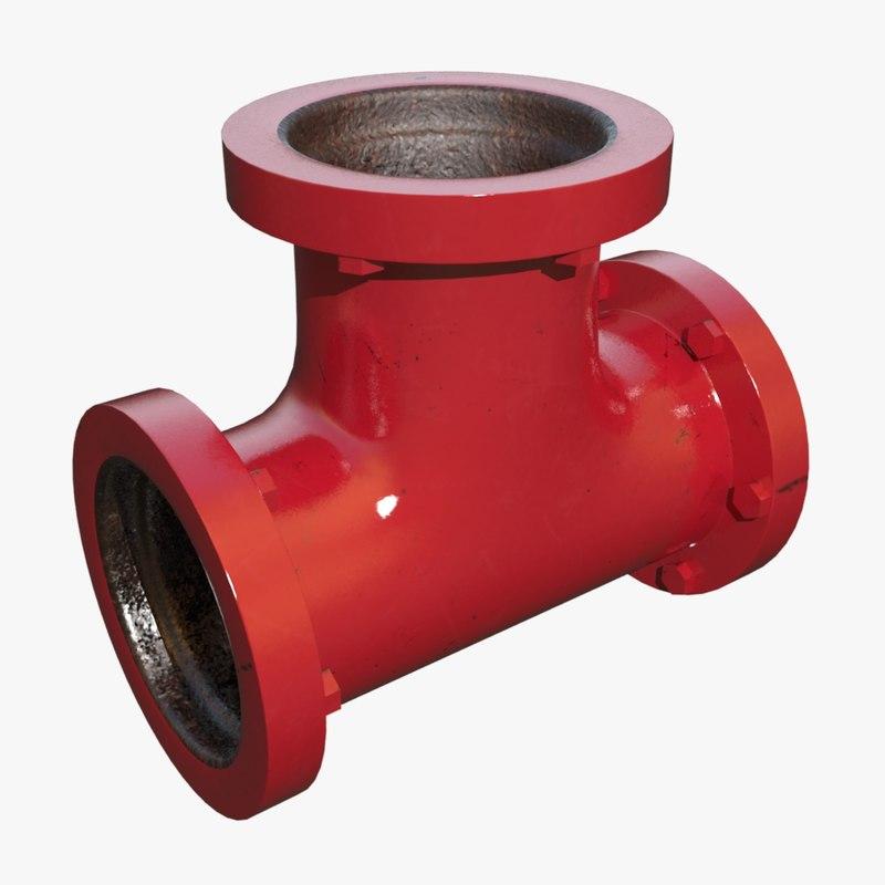 t pipe 3d model