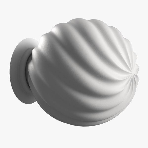 free door knob 3d model