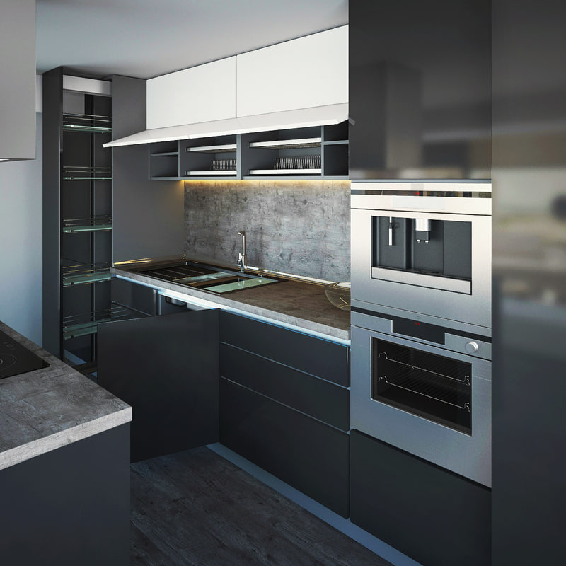 kitchen appliances 3d max