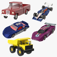 3d toy racecars trucks