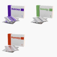 3d medication pills blister