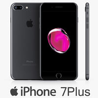 3d apple iphone 7 black
