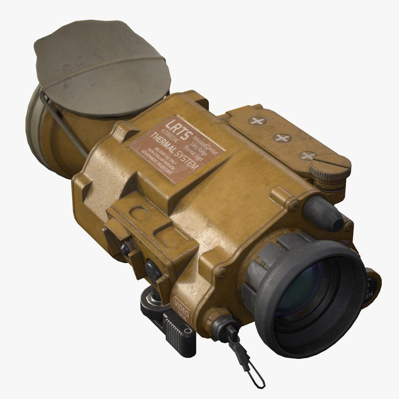thermal sight rifles 3d fbx