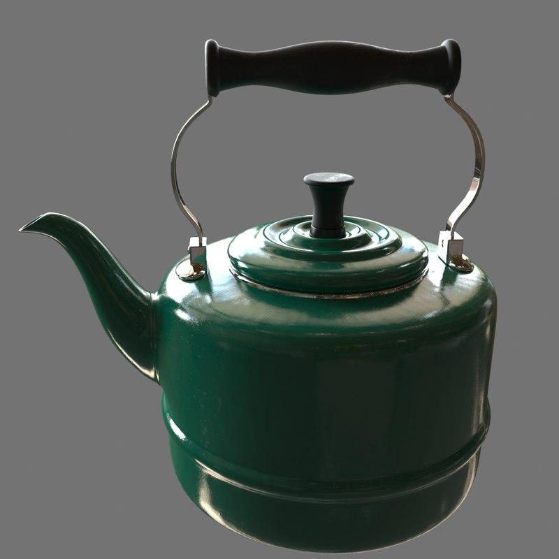 3d tea teapot pot model