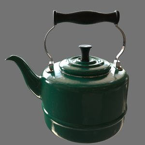 3d tea teapot pot model