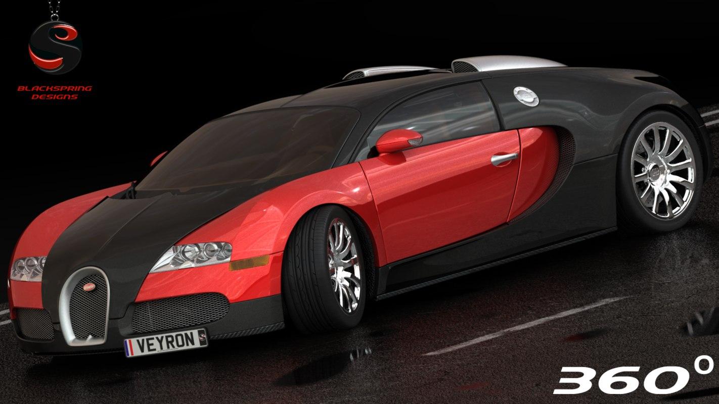 bugatti veyron 16 4 3d model. Black Bedroom Furniture Sets. Home Design Ideas