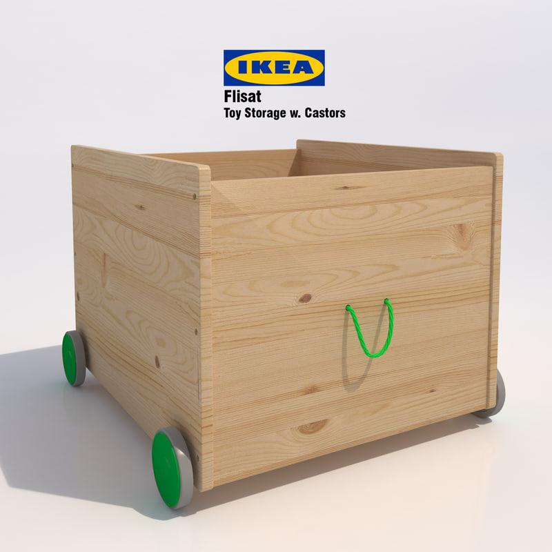3d model ikea flisat toy storage