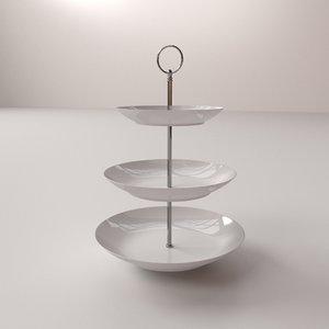 3d model cake stand v2