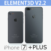 2 iphone 7 element3d 3d model