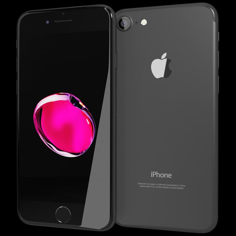 realistic apple iphone 7 3d max