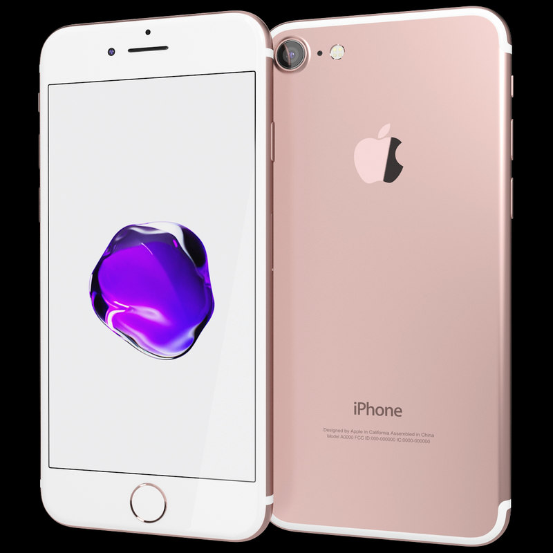 realistic apple iphone 7 3d 3ds
