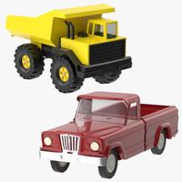 toy trucks 3d model